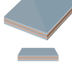 Multiple Layer Overlay Metal Cladding